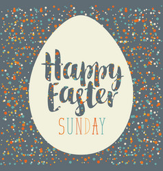 greeting card with easter egg vector image