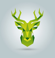 hand deer of polygonal shapes vector image