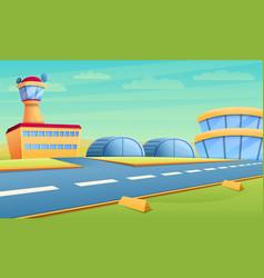 Hangar concept banner cartoon style vector