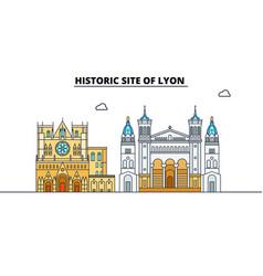 Historic site of lyon line travel landmar vector