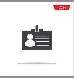 id card icon member icon isolated on white vector image