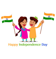 Independence day in india greeting card with vector