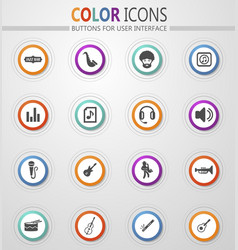 Jazz and blues icons set vector