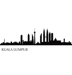 Kuala Lumpur silhouette vector
