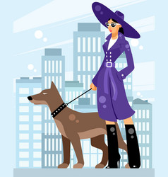 lady with a dog vector image