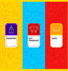 Line transport package labels vector