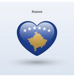 Love Kosovo symbol Heart flag icon vector