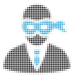 masked thief halftone icon vector image