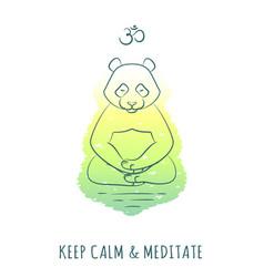 meditative animals series 2 vector image