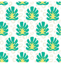 monstera summer tropical jungle pattern vector image