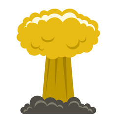 mushroom cloud icon isolated vector image