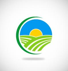 Nature farm logo vector