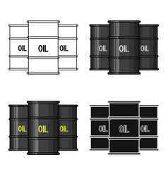 Oil barrel icon in cartoon style isolated on white vector