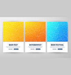 oktoberfest flyer concepts vector image