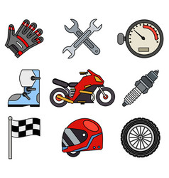 outline race sport championship motocross vector image