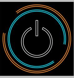 power button start technology symbol vector image