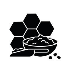 Propolis black glyph icon vector