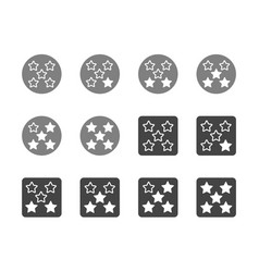 rating five star icon set vector image