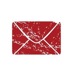 Red grunge letter logo vector image
