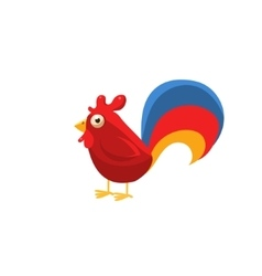 Rooster Simplified Cute vector
