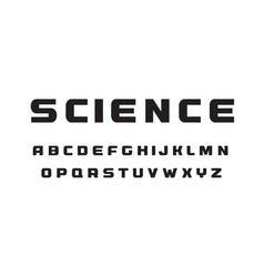 science technology letters black wide geometrical vector image