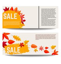set autumn sale banners design element vector image