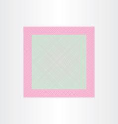 square net wedding invitation template vector image