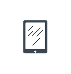 tablet pc related glyph icon vector image