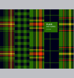 Tartan seamless patterns vector