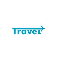 Travel logo with plane symbol vector