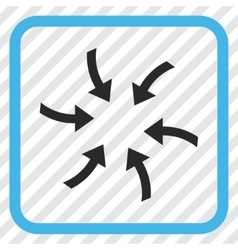 Twirl Arrows Icon In a Frame vector