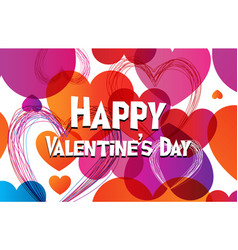 Valentine greeting card in trendy colortransition vector