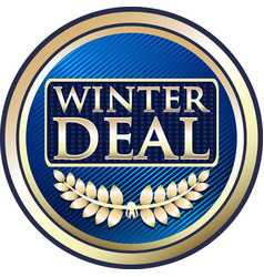 Winter deal icon vector