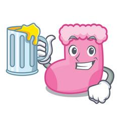 with juice sock mascot cartoon style vector image