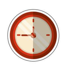 cartoon clock time school vector image vector image