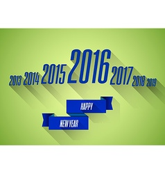 New year 2016 wishes card vector image