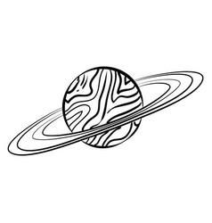 sketch saturn icon vector image vector image