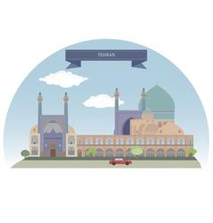 Tehran vector image