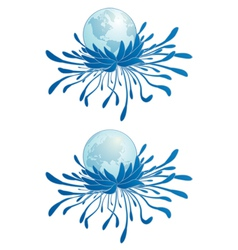 earth and chrysanthemum vector image vector image