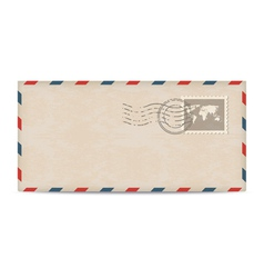 Old postage envelope with stamps vector image vector image