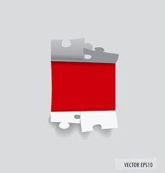 Paper cut of Puzzle vector image vector image