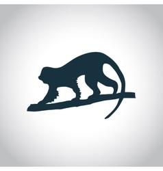 Monkey black icon vector image
