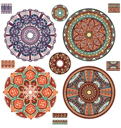 Round Ornament Patterns vector image vector image
