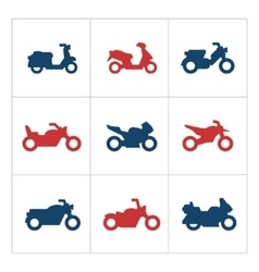 Set color icons of motorcycles vector image vector image