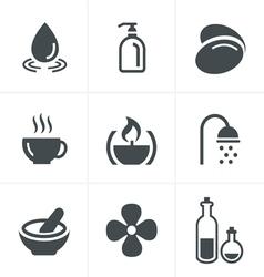 Spa Icons Set Design vector image