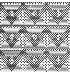 monochrome fabric seamless pattern vector image vector image