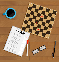 tactic and strategy business plan vector image