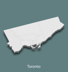 3d isometric map of toronto is a city of canada vector