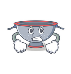 Angry colander utensil character cartoon vector