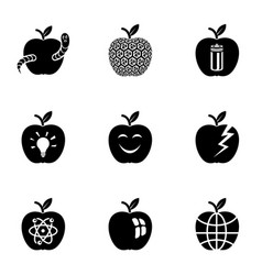 Appletree icons set simple style vector